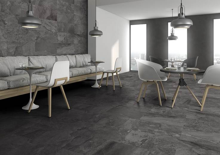 Vancouver Black Glazed Porcelain Tiles