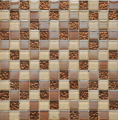 San Marco Glass Beige And Gold Mosaic