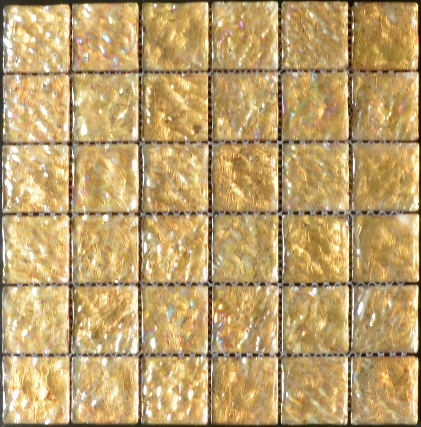 Shimmer Pale Gold Glass Mosaic