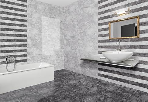 T4a Deseo Grey Marble Effect Tiles