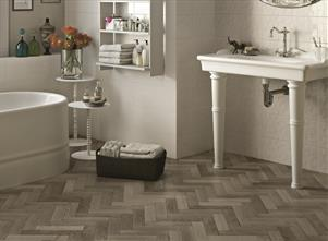 Faubourg Taupe Parquet Effect Tiles