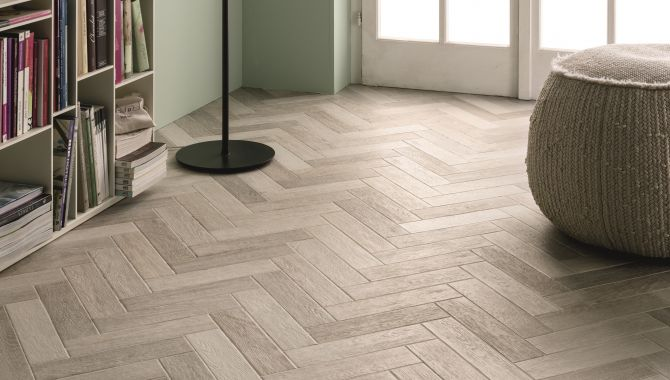 Bayker Faubourg Blanc Parquet Effect Tiles Bathroom Tiles Floor