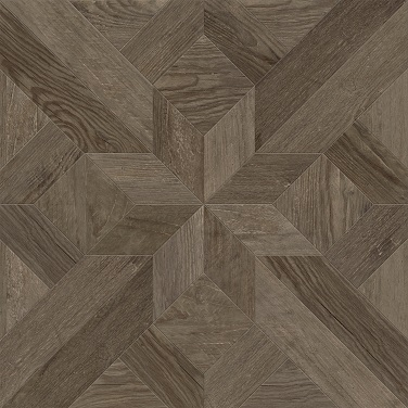 Dubrava Gloss Brown Parquet Effect Floor Tile