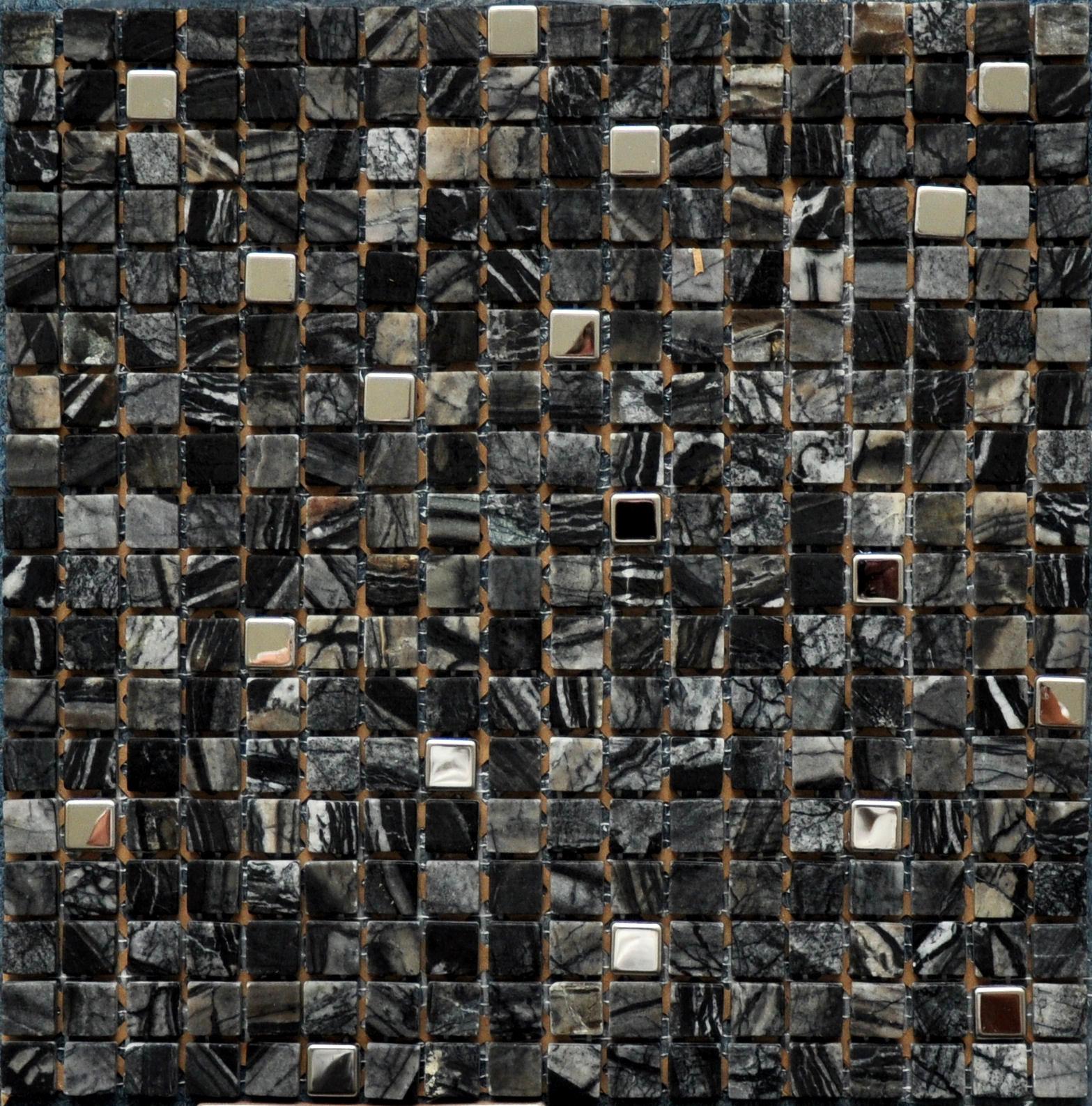 Floor Tiles Uk >> Bodrum Black Mosaic - Tiles 4 All