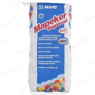 Mapei Mapeker Rapid Set Flex Grey - 20 Kilos (C2F)